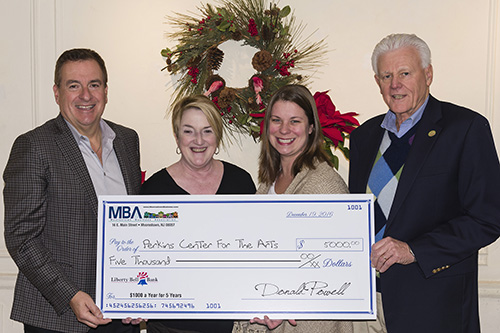 MBA Presents Gift to Perkins Center for the Arts